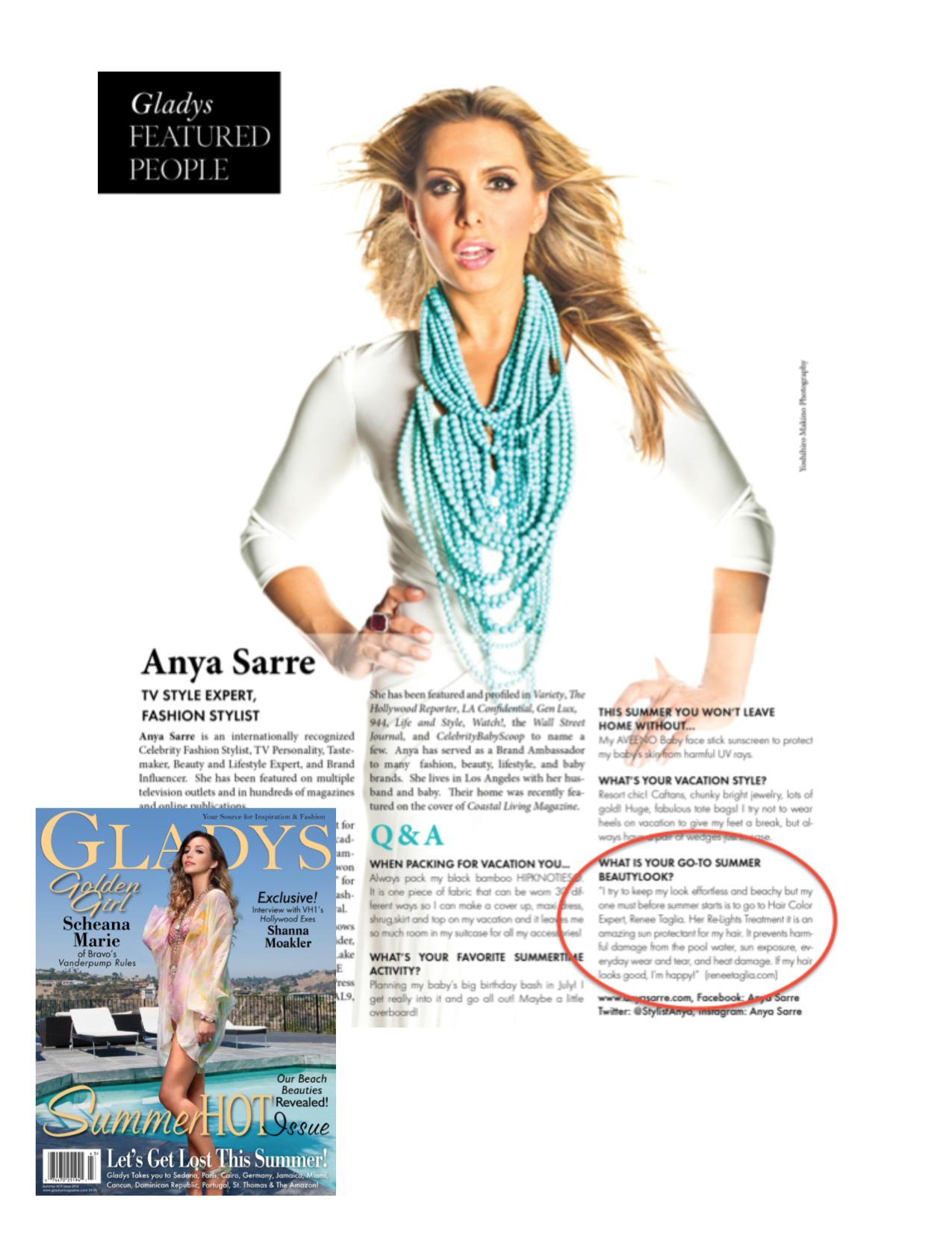 gladys magazine renee taglia