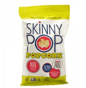 Healthy Snack Skinny Pop Gluten Free Ultra Light Popcorn Original