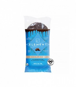 Healthy Snack element all natural gluten free dark chocolate rice cakes