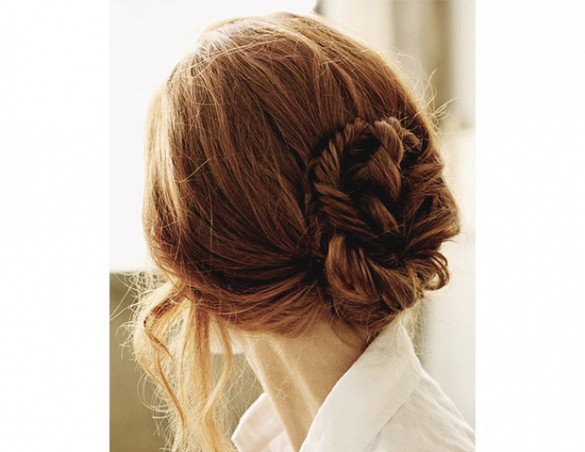 Hair - Low Bun - Red Head