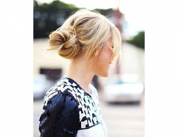 Blonde Low Bun Hair