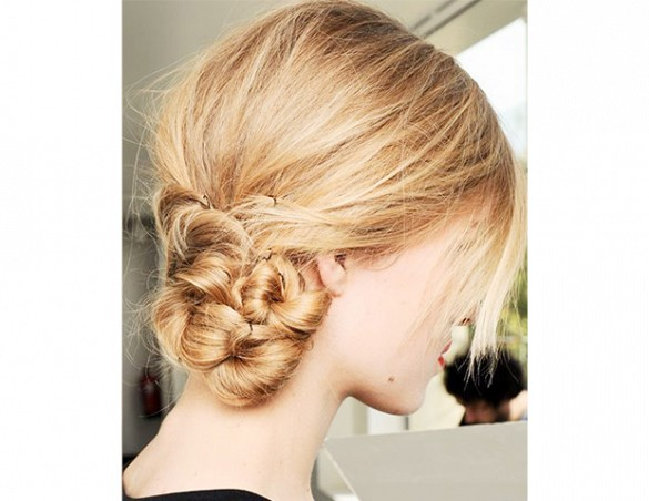 Blonde Low Bun - Hair