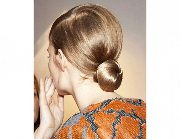 Blonde Amazing Low Bun Hair Style