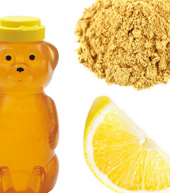 Honey, lemon and grated ginger rejuvenate skin