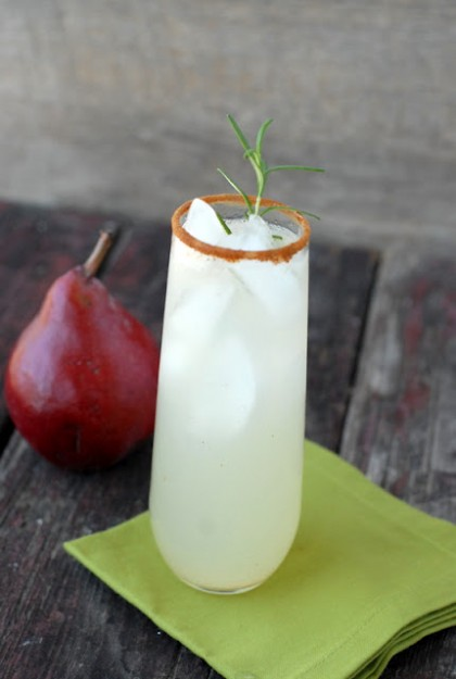 ginger pear snap cocktail - Thanksgiving