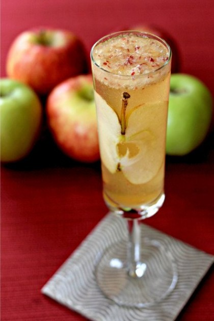 apple bourbon bellini - Thanksgiving