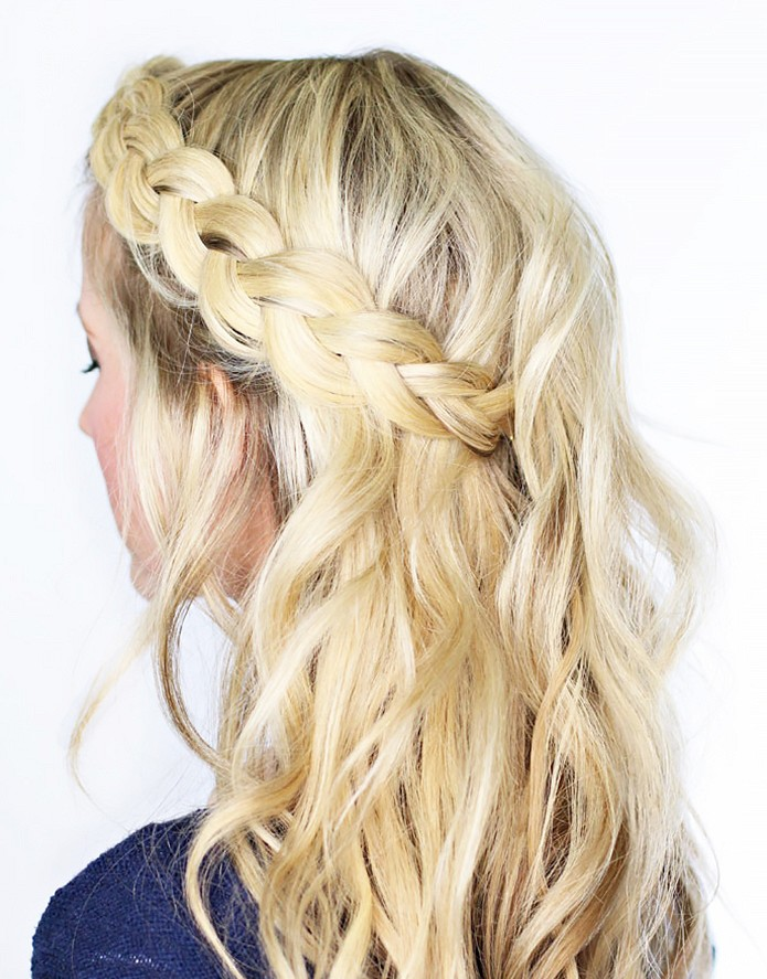 Wavy Dutch Braid