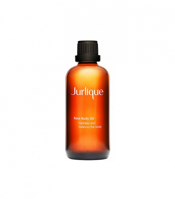 Jurlique Rose Body Oil - safflower and jojoba seed oils, rose and lavender extracts, and vitamin E
