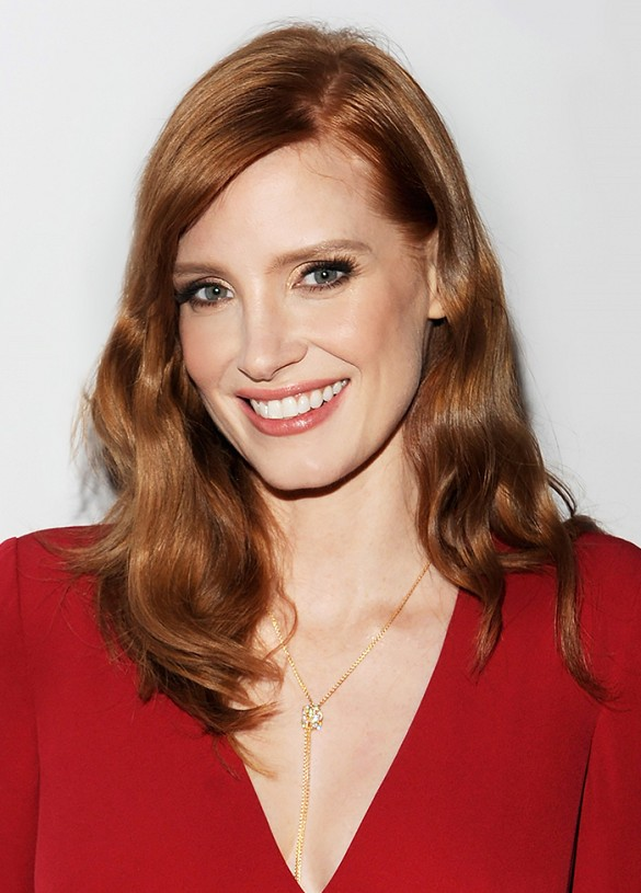 Jessica Chastain - Ronze color hair