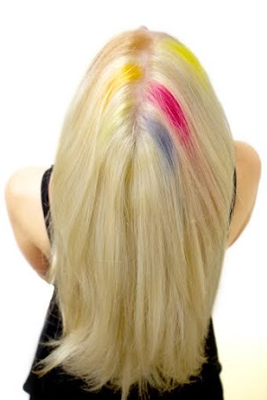 multi colored hair after