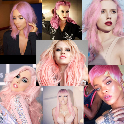 celeb pink hair color