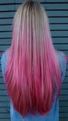 pink hair coloring