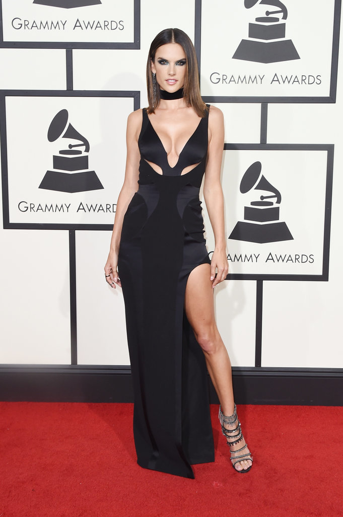Alessandra-Ambrosio-Red-Carpet-Grammys-2016 Best Hair Color Award