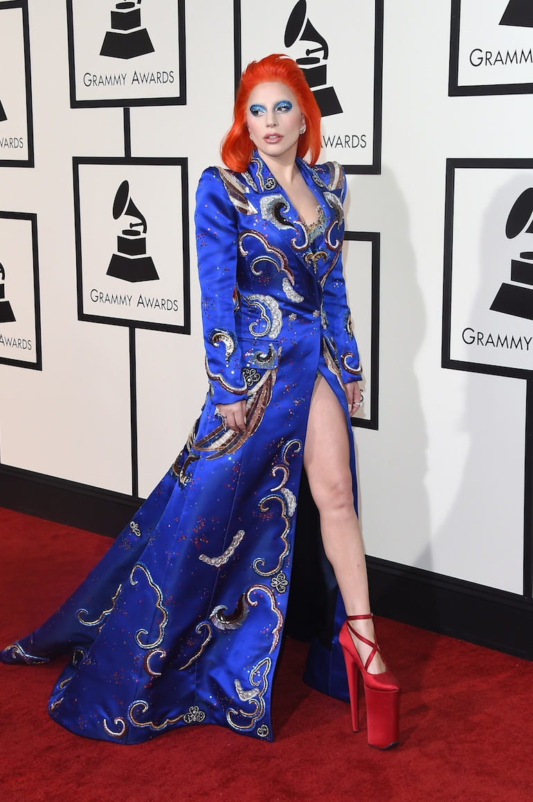 Best Hair Color of the 2016 Grammys - Lady Gaga
